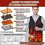 Vinmori Elektrische Beheizte Weste, Waschbare Größe Einstellbar USB-Lade Erhitzt Polaren Fleece Kleidung Winter Warme Weste (Schwarz)… - 7