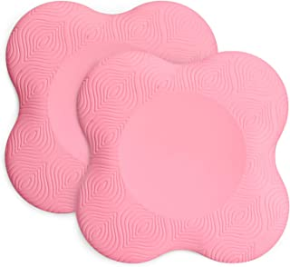 TOBWOLF 2PCS 7.9x7.9 / 20x20cm Yoga Knee Pad, Anti Slip Foam Yoga Kneeling Pad, Comfortable Yoga Support Pad, Sports Balan...