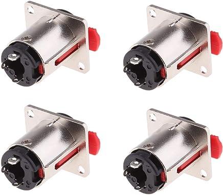 H HILABEE 5X 6.35 Mm 1/4 Pulgada De Audio Mono Macho A 90 Grados 2 Tornillo Terminal Convertidor Electrónica para vehículos Accesorios de imagen y sonido