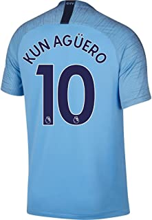 Nike Manchester City Home Kun Agüero Jersey 2018/2019 (Authentic EPL Printing)