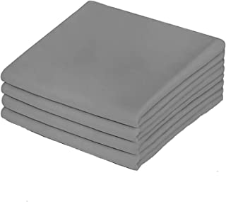 Premium Queen Pillowcases 4 Pack - Grey Standard - Ultra Soft 1800 Thread Count Hypoallergenic Microfiber- Double Brushed...