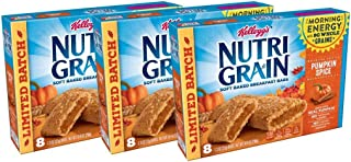 Nutri-Grain Pumpkin Spice Soft Baked Cereal Bars by Kellogg's, 10.4 oz per box (Pack of 3)