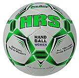 Horas Pro Grip mujeres resistente al agua pelota mano cosida a mano balón de balonmano, tamaño 1, White / Green