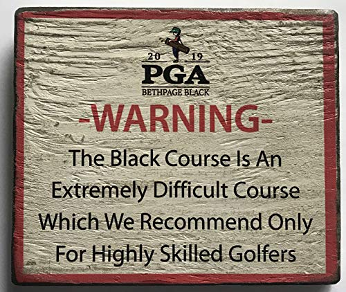 Best Prices! 2019 Pga Warning Sign bethpage black championship rare wood 5x7 display new