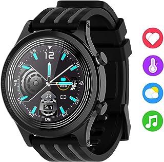 Zeerkeer Smartwatch,Pulsera Actividad Inteligente Impermeable IP68 Inteligente Reloj Deportivo Pantalla Táctil Completa con Pulsómetro Cronómetro Pulsera Deporte para Hombres Mujeres