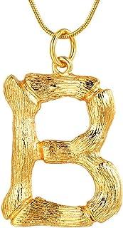 FOCALOOK 26 Letras Iniciales de Bambú Collar Choker Broches Horquillas de Mujeres Joyería Alfabeto de Muchachas Nombres Id...