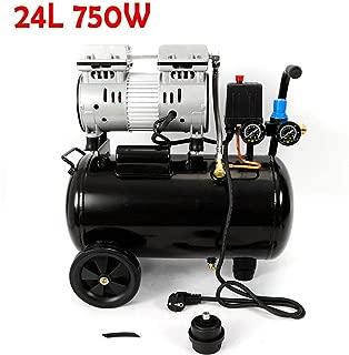 BTdahong - Compresor de aire portátil (750 W, sin aceite, 550 W, doble manómetro, silencioso, 24 L, 1 PS, 8 bar)