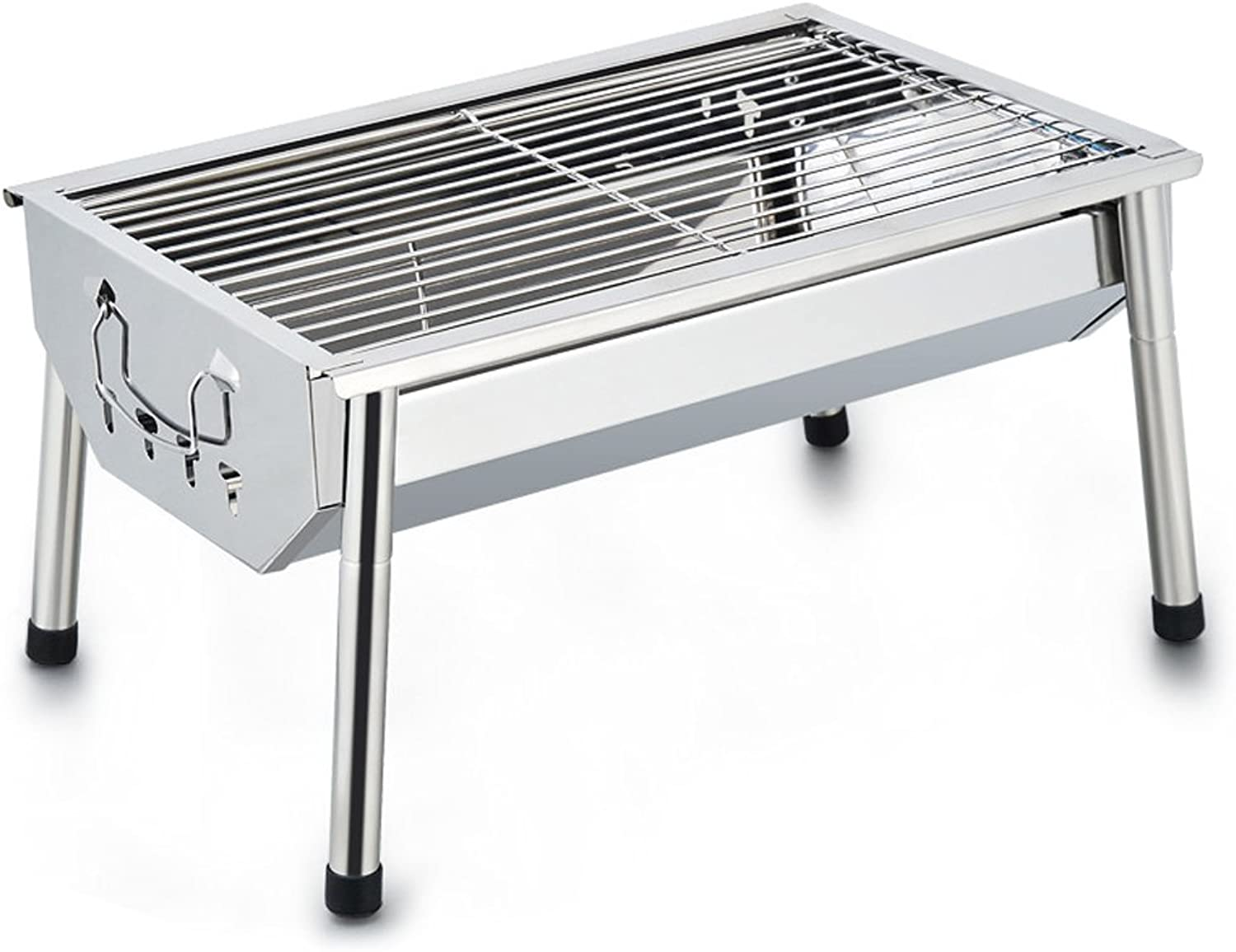 Grill BBQ Outdoor Stainless Steel Charcoal Removable Mobile Convenience Travel Party 35 People