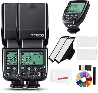 【正規品 技適マーク&日本語説明書】GODOX Thinklite 2 x TT600 2.4GワイヤレスGN60マスター/スレーブカメラフラッシュスピードライトCanon Nikonソニーペンタックスオリンパス富士 + Xproフラッシュトリガー