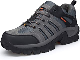 Men's Hiking Shoes Waterproof Trekking Shoes Non-Slip Lightweight Low-top Outdoor Walking Shoes