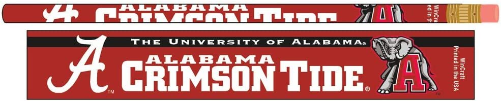 Alabama Crimson Tide Official NCAA Pencils Standard by Wincra Max 63% OFF Super popular specialty store 7
