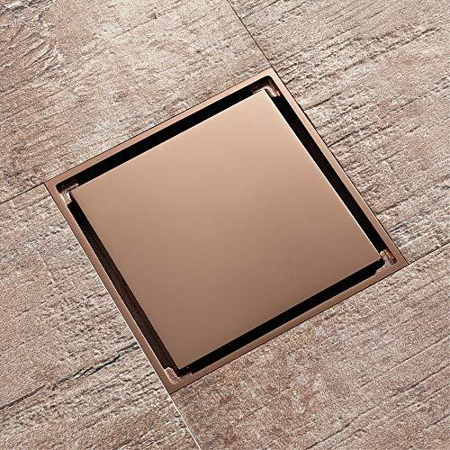 PIJN Bodenablauf Bodenablauf Goldene Toiletten große Verschiebung Deodorant Kern Drainage (Color : Metallic, Size : 100x100x37mm)