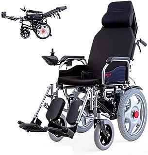 De peso ligero plegable sillas de ruedas eléctrica Silla de ruedas, silla de ruedas Sillas de ruedas eléctricas de seguridad portátil con función de alarma de marcha atrás con la batería de litio, Max