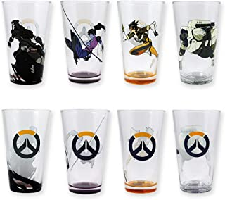 Overwatch Characters Pint Glasses (Set of 4), 16oz