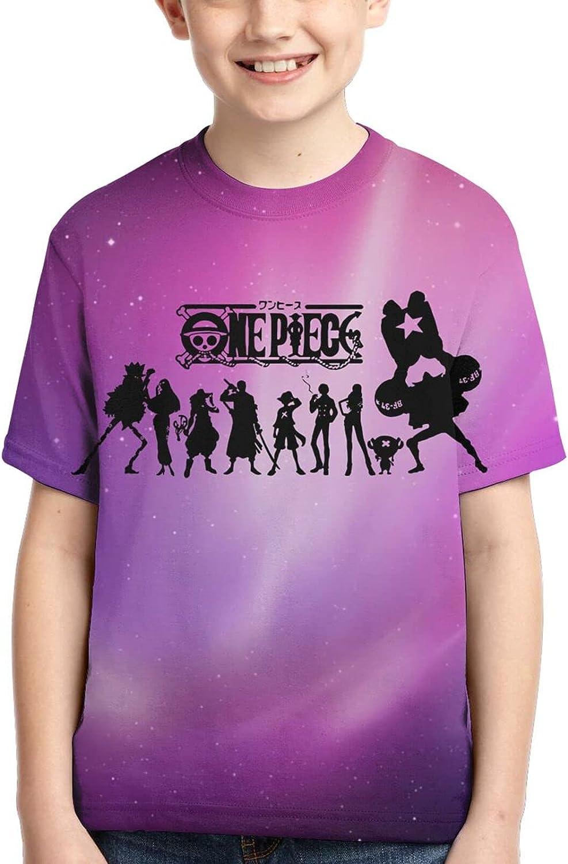FANPANHE Regular discount One Piece Anime Japan's largest assortment Fashion Short T-Shirt Boys Trend Sleeve