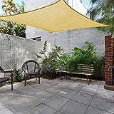 Toldo Vela de Sombra Rectangular Toldo Vela IKEA Prevención Rayos UV Solar protección para Jardin Terraza Patio Gris - Beige 5x6.5m