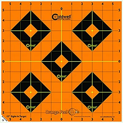 Caldwell Orange Peel 12 Inch Sight-In Targets, 5 Pack