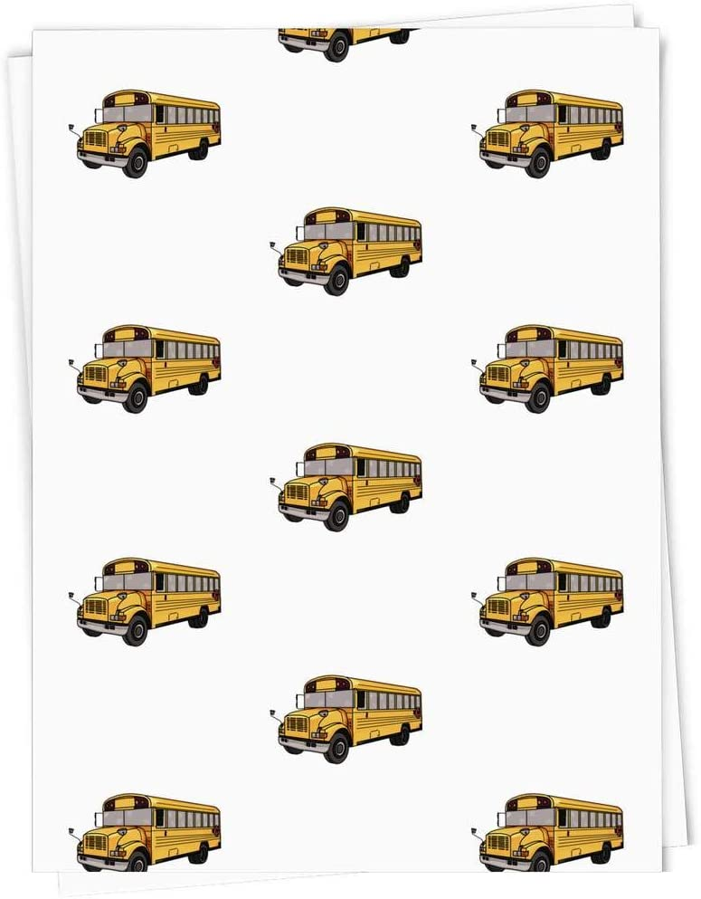 Max 59% OFF 5 x A1 'School Bus' Gift Wrapping Sheets GI0001999 Wrap El Paso Mall Paper