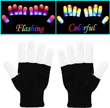 W-Plus Flashing Finger Lighting Gloves Colorful Rave Gloves Light-up Toys, Amazing for Children