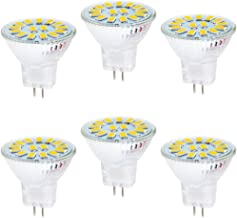 6 Pack Lxcom MR16 LED Bulb 5W LED Spotlight Bulbs AC//DC12V 50W Halogen Equivalent Daylight White 6000K 120 Degree Beam Angle GU5.3 Bi-Pin Base for Landscape Recessed Track Lighting