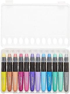 KingArt Studio Gel Sticks, Set of 12, Assorted Metallic Colors 12 Count