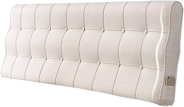 Coussin dossier dossier soft pack coussin lombaire literie oreiller oreiller de lecture maison coussin tissu taie d'oreiller pas de tête de lit (Couleur   Beige, taille   150  10  60cm)
