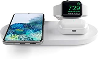 Seacosmo Caricatore Wireless 3 in 1 per Apple Watch 5/4/3/2/1, Qi Supporto di Ricarica Wireless Docking Station per AirPod...