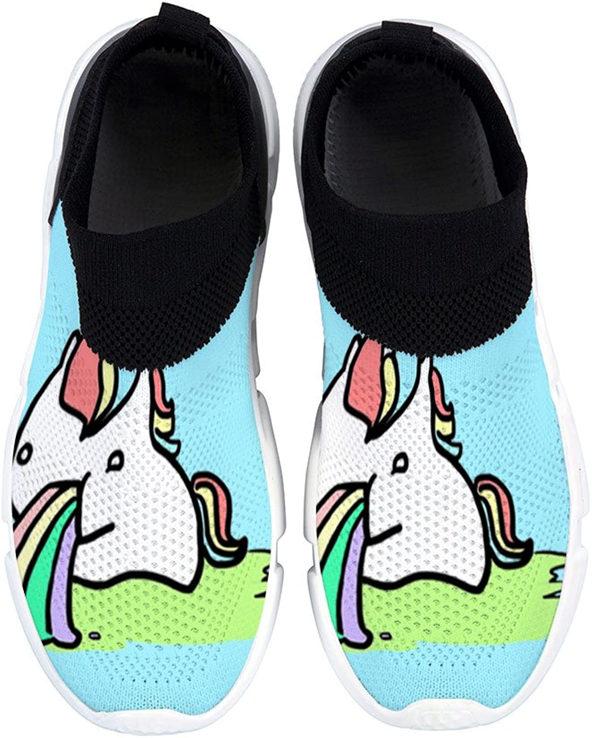 DREA New Women Casual Loafers Casual Flats shoes Travelling Cute Unicorn shoes