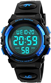 Kids 50M Waterproof LED Sports Digital Watch with Alarm...