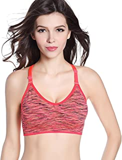 🍒 Spring Color 🍒 Racerback Padded Sports Bra Seamless Yoga Activewear Adjustable Workout Tops for Women