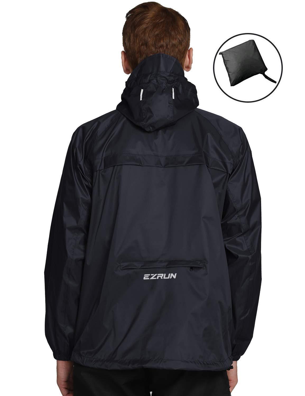 EZRUN Waterproof Windbreaker Lightweight Packable