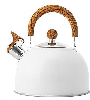 Nieuwe stijl witte fluitketel met inklapbare handgreep Europese stijl keukenfluitketel 2,5 l grote capaciteit