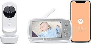 Motorola VM44/Ease 44 Connect wifi babyfoon met camera, 4,3 inch video, babymonitor, HD-display, Motorola Nursery app, nac...