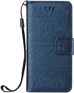 ESSTORE-EU Funda Samsung Galaxy Grand Neo i9060 / Neo Plus GT-I9060I / Duos i9082 i9080 GT-I9082 Case Hebilla Magnética Cerrada, Azul