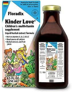 Salus Haus - Childrens Multivitamin Kinder Love Liquid 8.5 Ounce SMALL - Vitamins A, B, C, D, E, Calcium, Magnesium - Kosher, Non GMO, Vegetarian