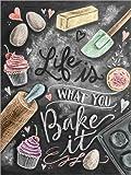 Poster 50 x 70 cm: Leben ist, was du bäckst (Englisch) von