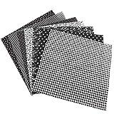 Wifehelper 7pcs 50 * 50cm Tessuto di Cotone Fai da Te Assortiti Quadrati Kit di Biancheria da Letto Quarti Pacchetto(Nero)