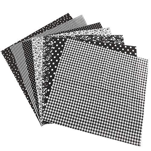 SOONHUA Materiales de Tela de Algodón para Coser 7 Piezas de 50 X 50 Cm Retazos de Cuadrados de Tela de Algodón Paquetes de Restos para Coser Acolchar Manualidades Manualidades