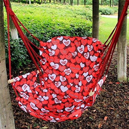 Ailin home- Chaise de Jardin Suspendue au hamac, siège pivotant pour Tous Les espaces intérieurs ou extérieurs avec Coussin éponge Confortable, Charge: 150 kg (Couleur : #3)