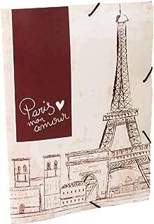 Pasta Aba Elástico Oficio Mundi Paris 335x235mm Vermelho 1 unid DELLO