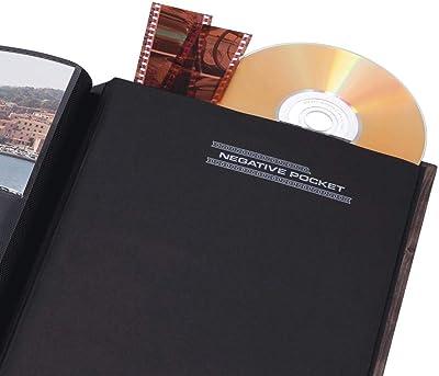 Hama Batzi Marrón álbum de foto y protector - Álbum de fotografía (Marrón, 100 hojas, 10 x 15 cm, 200 hojas, 1 pieza(s), 190 mm)