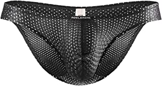 Summer mesh Ice Silk Men Underwear Seamless Transparent Boxer Short Ultra Thin Sheer Breathable Comfortable Briefs - Black