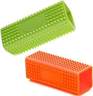 Ovee Lando 2 Pack Hollow Rubber Pet Dog Cat Hair Remover Cars Furniture Carpet Clothes Sofa Cleaner Brush