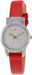 Fastrack Fits and Forms Women's White Dial Leather Band Watch - T6088SL02