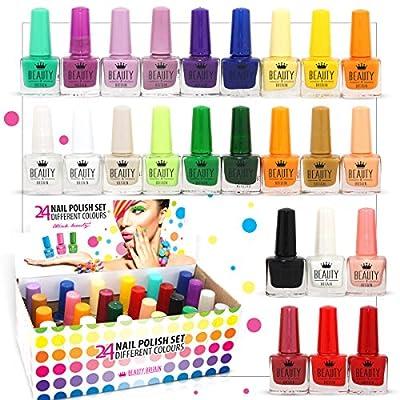 24 esmaltes de uñas