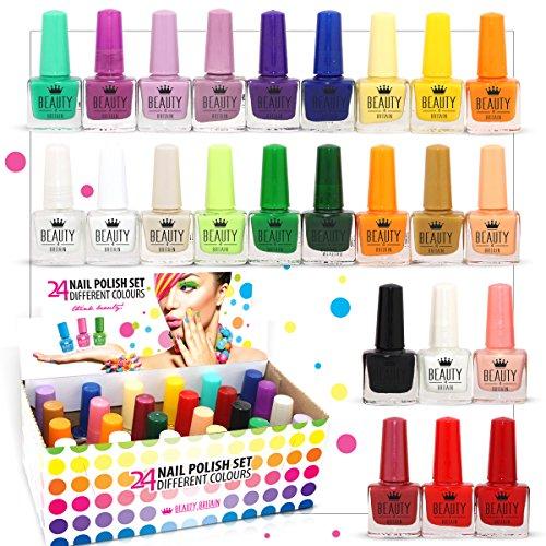 24 esmaltes de uñas (juego B) con 24 colores distintos, el mejor regalo