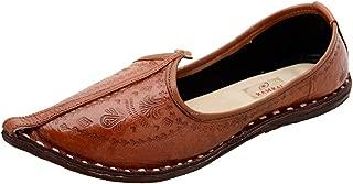 Ramraj Men's Brown Traditional Leather Mojari's (Jutti)