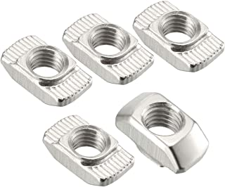 uxcell Sliding T Slot Nuts, M8 Half Round Roll in T-Nut for 4040 Series Aluminum Extrusion Profile, Carbon Steel Nickel-Plated, Pack of 30