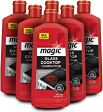 Magic Ceramic and Glass Cooktop Cleaner - 6 Pack - Professional Home Kitchen Cooktop Cleaner Polish Use on Induction Ceramic Gas Portable Electric