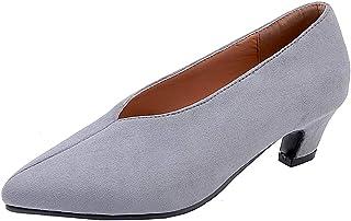 [AIYOUMEI] 柔らか スウェード 単色 ポインテッドトゥ パンプス 冠婚葬祭 オフィス フォーマル パンプス 歩きやすい コーンヒール 5cm コンフォート かわいい パンプス 春夏秋限定